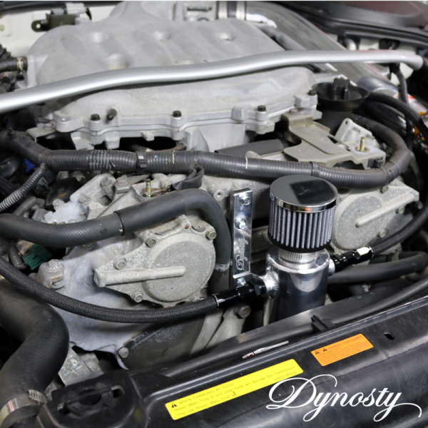Dynosty Catch Can Kit installed on Nissan 350Z VQ35DE