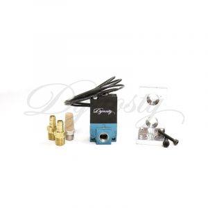 Dynosty boost control solenoid kit with billet bracket