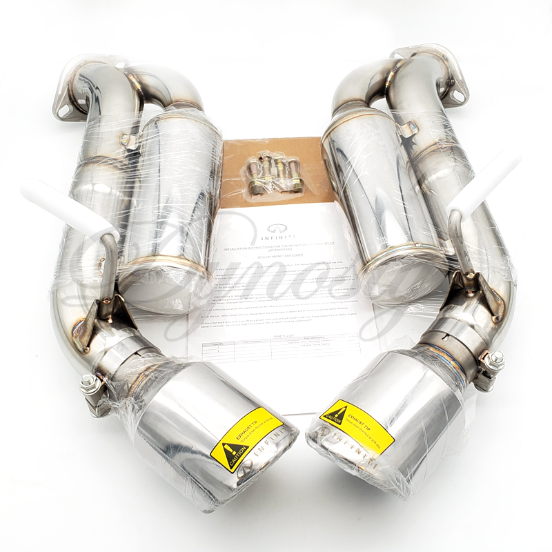 infiniti helmholtz resonated axle back exhaust for q60